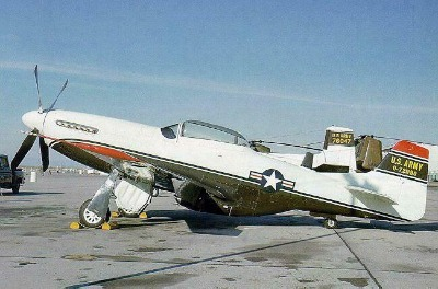 US Army F-51D chase plane